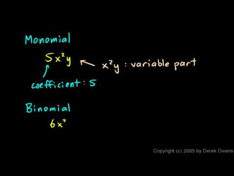 Prealgebra 10.1a - Introduction to Polynomials