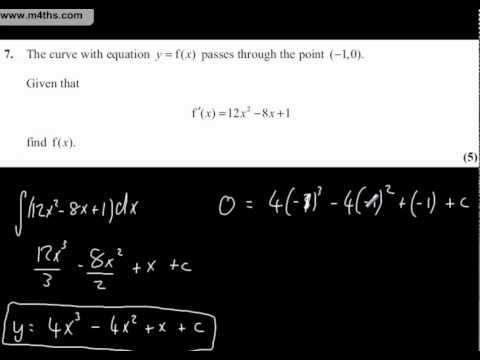 Core 1 Mathematics Edexcel January 2011 Question 7