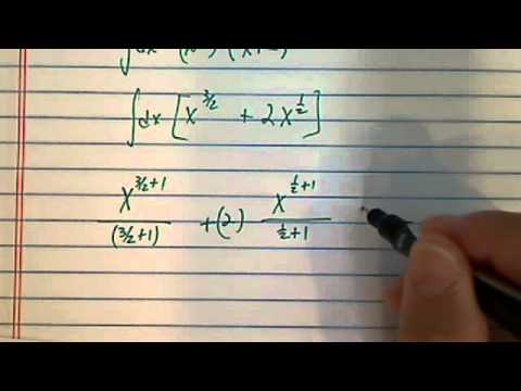 how to find integral (antiderivative) of  (x^.5)(x+2)dx= ????