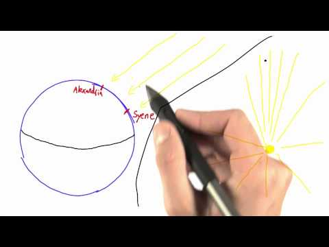 Parallel Rays - Intro to Physics - Circumference of Earth - Udacity