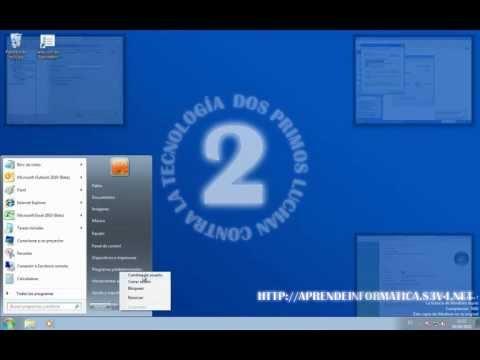 Curso de iniciación a Windows 7 - 01 - El menú inicio