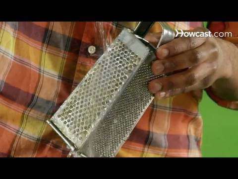 Quick Tips: How to Remove Sticky Food From a Grater