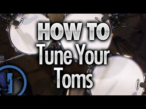 How To Tune Your Toms - Drum Lessons
