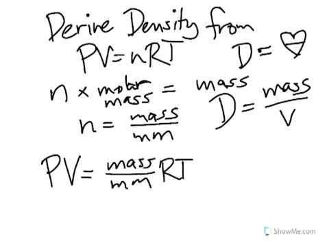 How to Derive the Density of Gas Using the Ideal Gas Equation