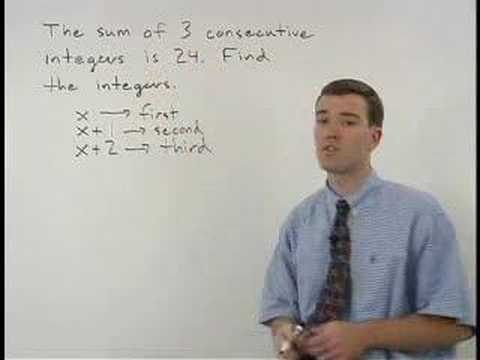 Consecutive Integers - YourTeacher.com - Algebra Help
