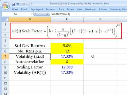 How to scale autocorrelated returns