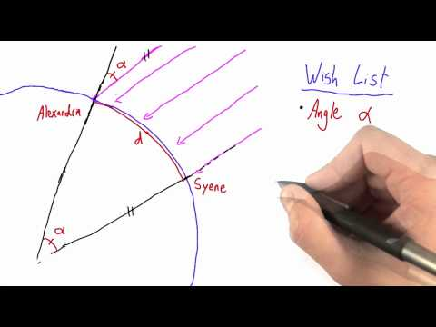 Relationship Between Angle and Circumference - Intro to Physics - Circumference of Earth - Udacity