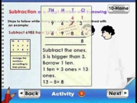 Learn Mathematics - Subtraction - Kids Animation Learn Series