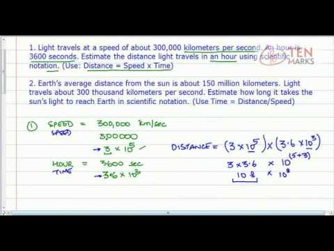 Exponents - Applications of Scientific Notation