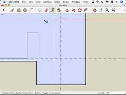 SketchUp: Putting in the interior walls