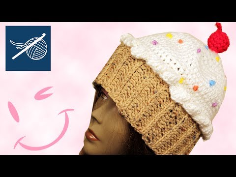 Left Hand Crochet - How to Crochet a CupCake Hat