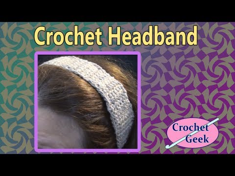 Crochet Headband - Linked Stitch
