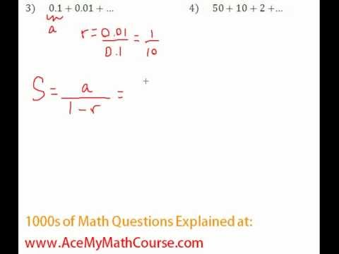 Geometric Series - Infinite Series Question #3