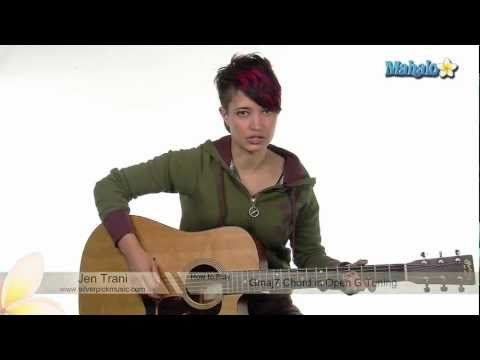 How to Play G Major 7 Chord in Open G Tuning on Guitar