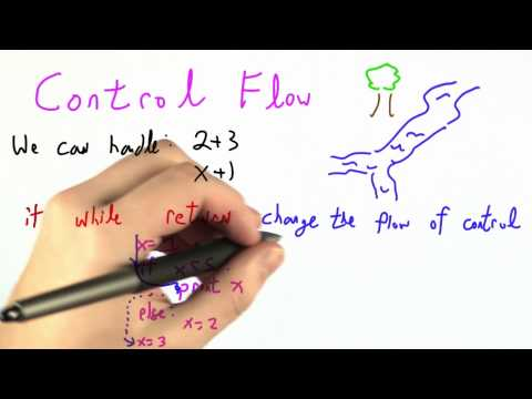 Control Flow - CS262 Unit 5 - Udacity