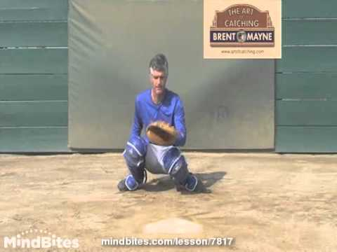 "Baseball/Softball Catcher's ""Drop Knee"" Technique"