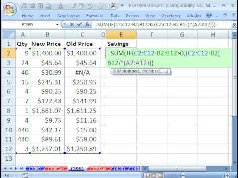 Excel Magic Trick 399: NA Error Trouble in Array Formula