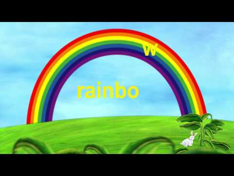 "Rabbit & Rainbow - Lower Case Alphabet ""r"""