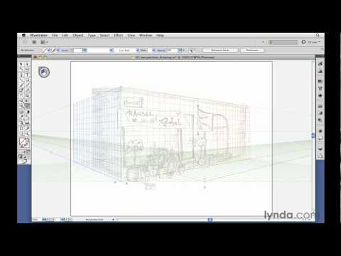 Illustrator tutorial: Drawing with the Perspective Grid tool | lynda.com