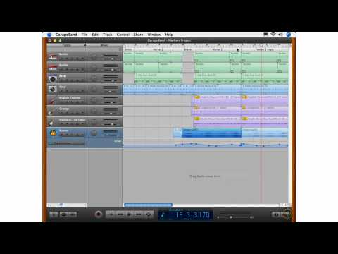 What's New in GarageBand 08 - The Arrange Track - Markers