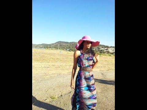 HOW TO SEW EASY MAKING A SUMMER DRESS DRAPED STYLE
