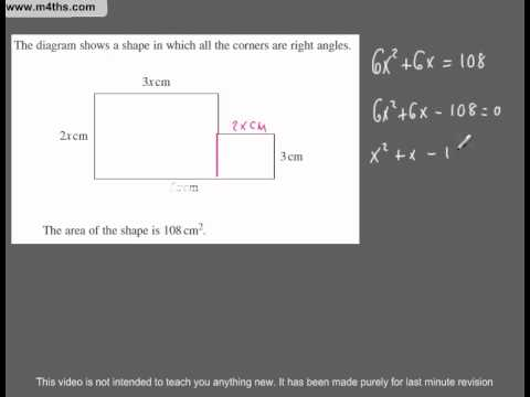 (Q118) A Star GCSE Revision Questions Quadratics in surd form