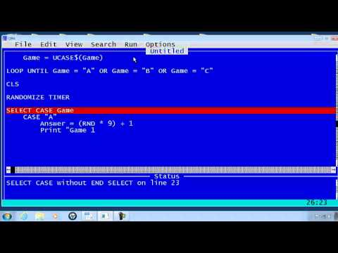 QBasic Tutorial 14 - Guess My Number Game - QB64
