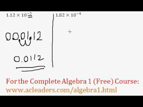 (Algebra 1) Exponents - Converting Scientific to Standard Notation #5-6