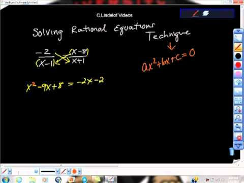 Algebra Solving Rational Equations Technique Two Quadratics