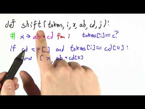 Writing Shift Solution - CS262 Unit 4 - Udacity