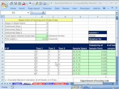 Excel Statistics 56: Discrete Probability Distributions (Basics)