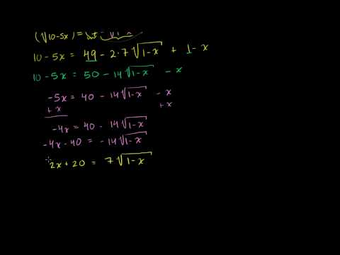More Involved Radical Equation Example