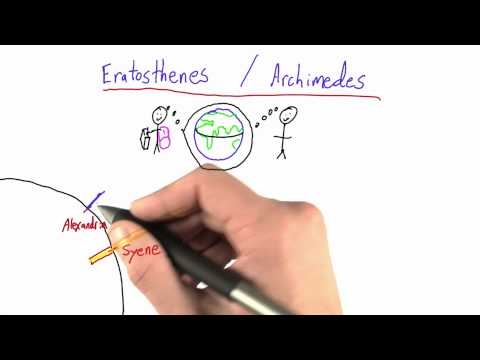 Eratosthenes Advantage - Intro to Physics - Circumference of Earth - Udacity