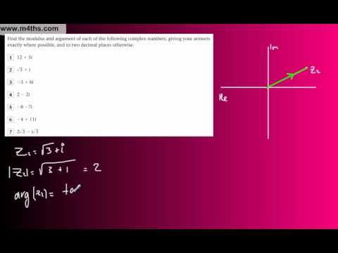 (17) FP1 Complex Numbers (Edexcel Further Pure Maths) - Finding Modulus & Argument Basics