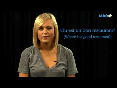 How to Ask For a Good Restaurant in French