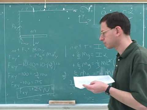 Rotational statics and dynamics problems (4)