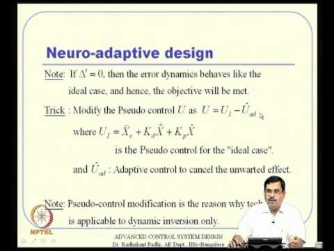 Mod-14 Lec-36 Neuro-Adaptive Design -- I