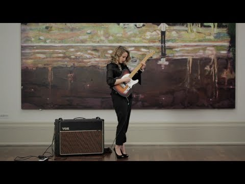 Anna Calvi performance inspired by Peter Doig