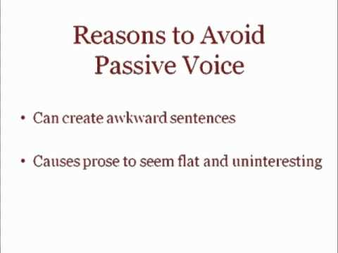 Saylor ME304: Passive and Active Voice