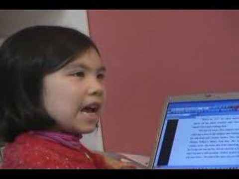 9 year old Adora Svitak--talks about her story writing