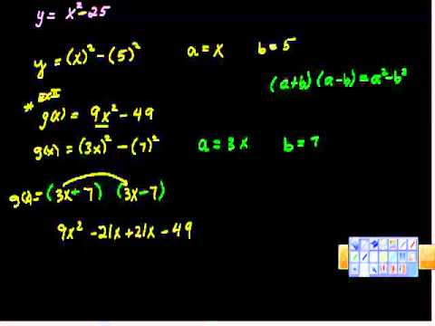 Using Difference of Squares to Factor Polynomials