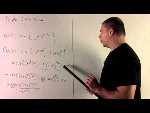 Example of Chain Rule 4 - Triple Chain Rule