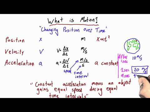 Equations of Motion Solution  - Intro to Physics - Motion - Udacity