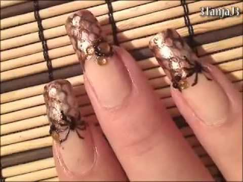 *Snake Skin & Spiders Nail Art Design* - Using smARTnails