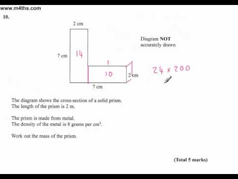 (Q10) Edexcel Linear Higher (non calc) 6th June 2011 (quick worked answer only)