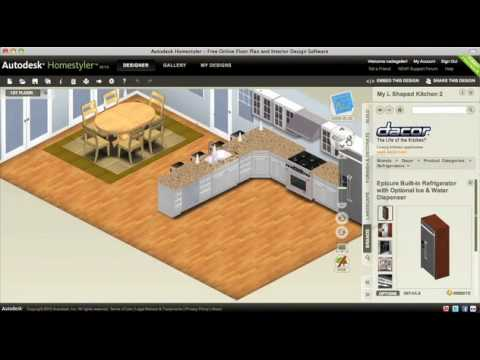 Choosing Floors, Appliances and Countertops for Your Kitchen Remodel — Autodesk Homestyler