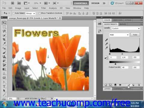 Photoshop CS5 Tutorial The Adjustments Panel Adobe Training Lesson 10.3
