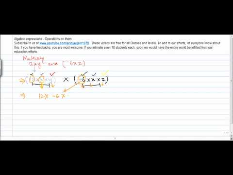1346. Mathematics Class VIII   Multiplication  of two Algebric expressions   Problem 2