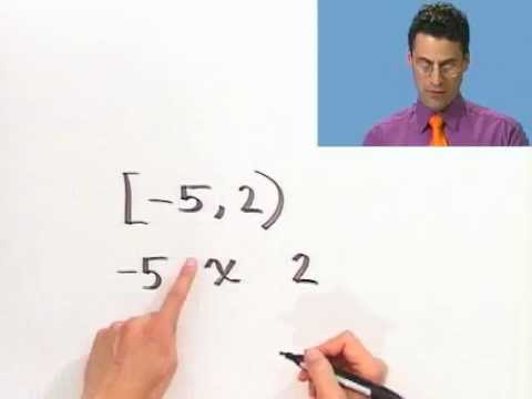 Inequalities and Interval Notation, Part 2 of 2, from Thinkwell's College Algebra