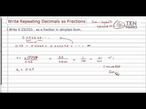Write Repeating Decimals as Fractions